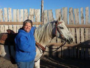 Bubba with trainer Dawn Marten