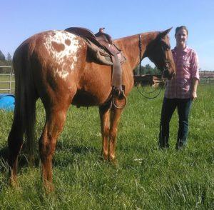 Johnny with trainer Jessica Bishop